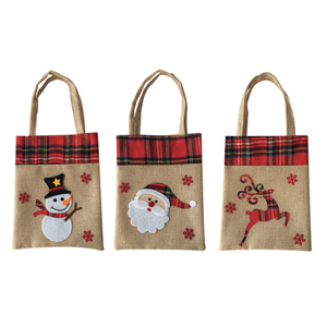 Best selling 3pcs storage candy gift burlap bags Christmas Items