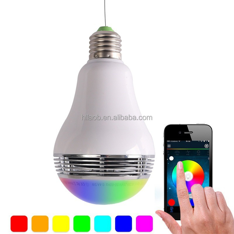 China factory bluetooth music bulb Android or IOS smart phone control wireless music playing led speaker