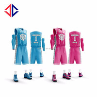 Fully Sublimation customized womens basketball jersey