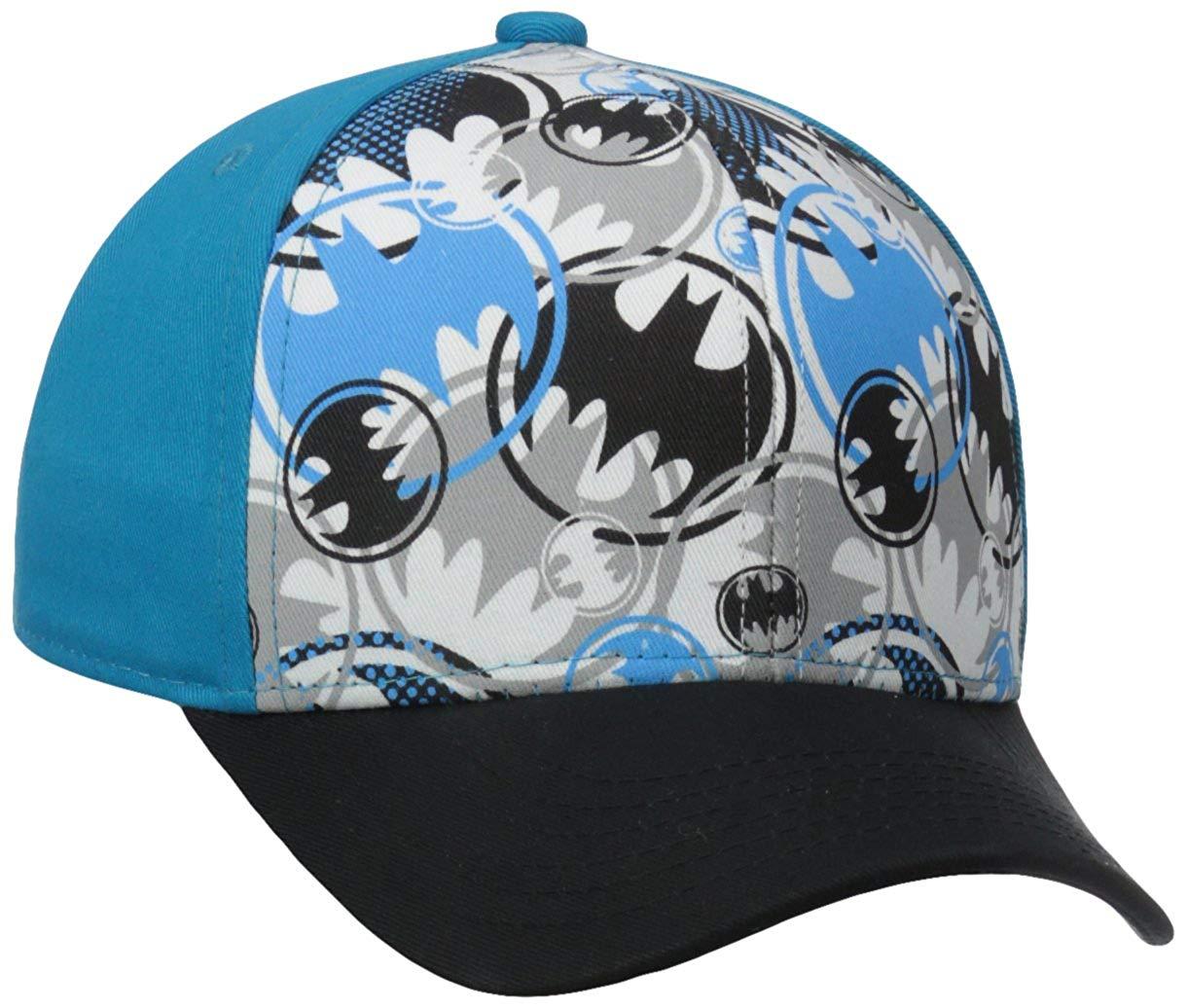 Get Quotations · DC Comics Boy s Batman All Over Print Sublimated  Adjustable Baseball Cap 374f7503bd