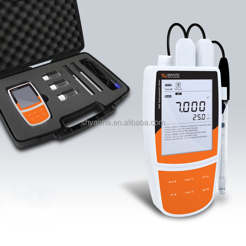 Bante900P Portable PH ORP EC DO Meter /Water Quality Tester