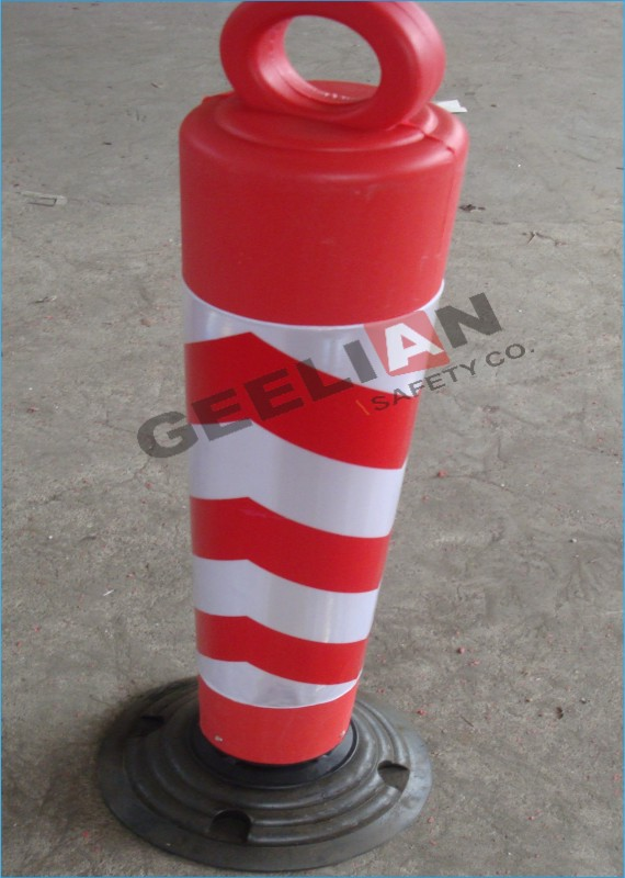 GEELIAN Flexible plastic traffic road parking safety warning bollards for global market