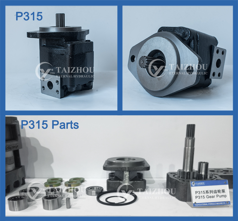 American truck parker hydraulics gear pump P31 P51 P75 P76 PGP30 PGP31 PGP50 PGP51 PGP75 PGP76 tandem gear pump