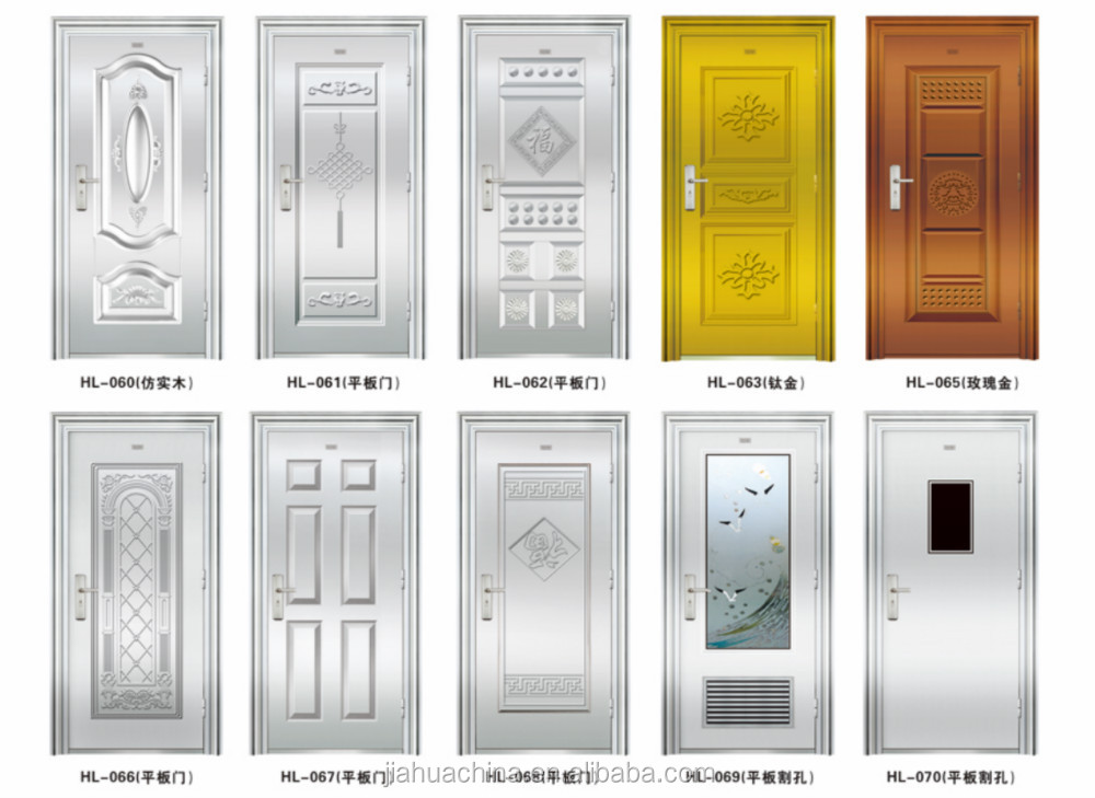 2016 security stainless steel indian main wooden doors for Latest main door