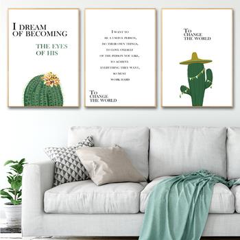 Moderne Art Poster Nordic Cactus Canvas Foto Voor Woonkamer ...