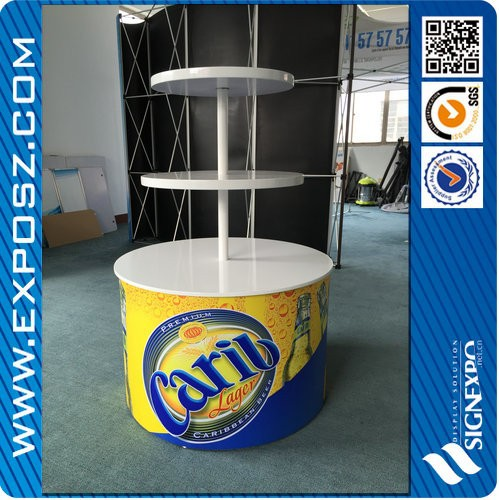 Wholesale 3 tier wood display round table