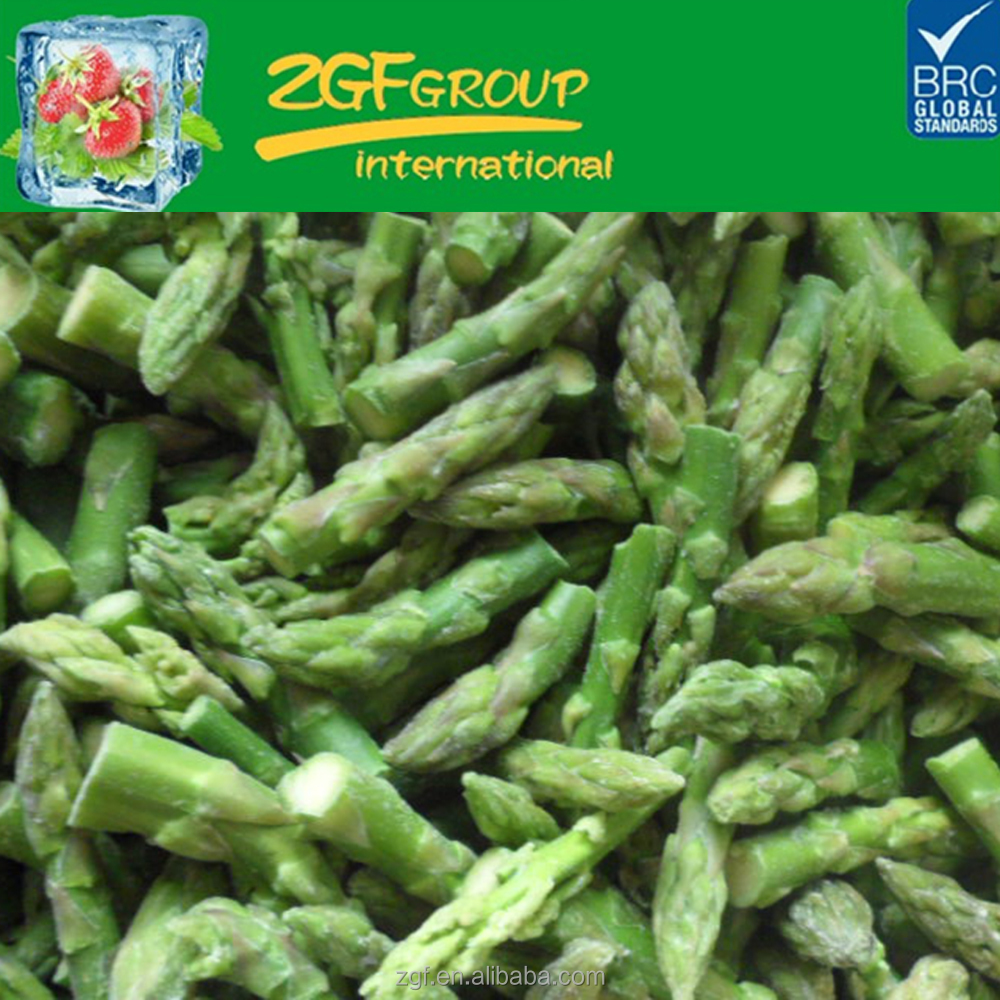 IQF frozen green asparagus pure tips