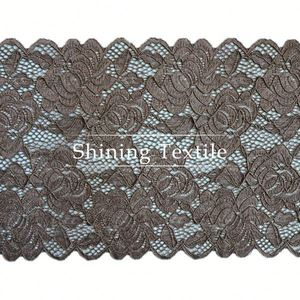 New Design 92% Nylon 8% Spandex Gray Lace Trim Fabric For Underwear