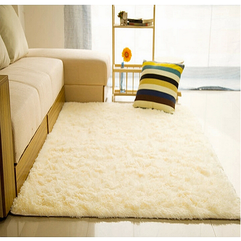 Long Plush Slip Resistant Soft Mat For Room Modern Large