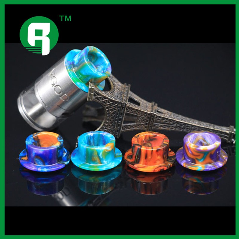 2016 newest drip tip with vgod mod hot sale from pingray factory vgod resin drip tips