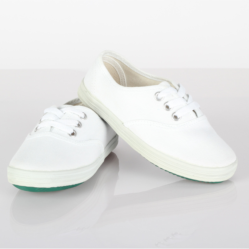 Childrens White Canvas Shoes