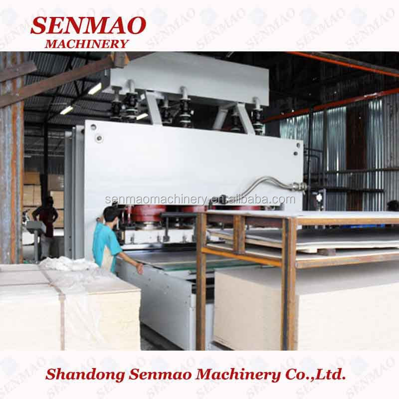 1200t short cycle MDF laminating hot press/short cycle melamine laminating hot press machine