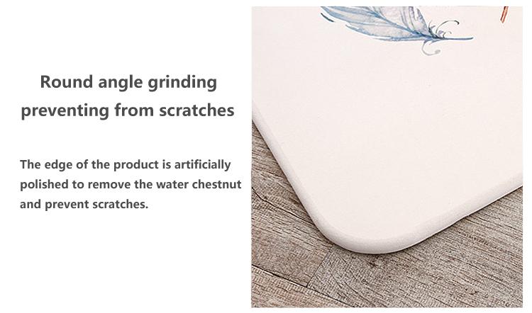Fabricante de China de tierra de diatomeas antideslizante ducha mat precio