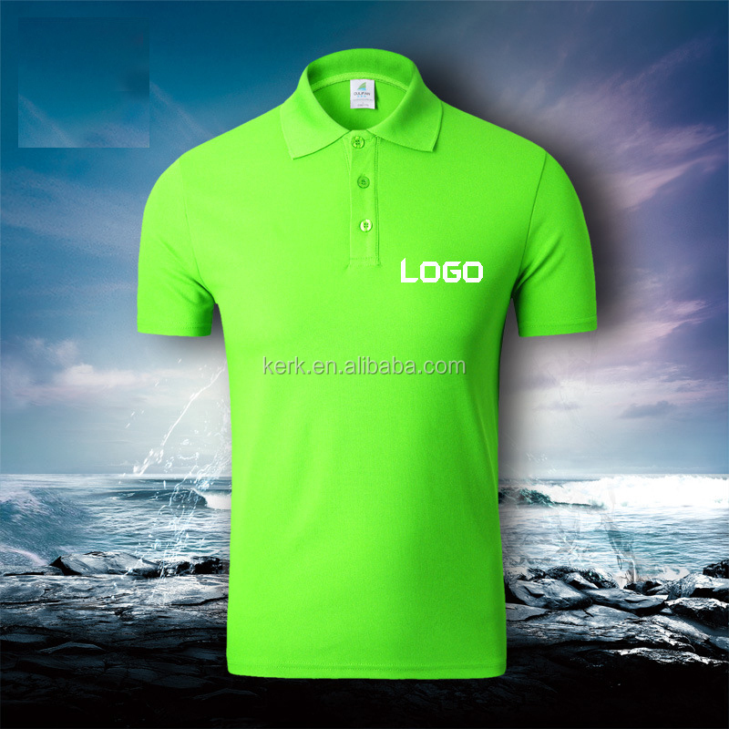 Men's dry fit cheap polo t shirts with your own Logo