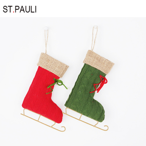 best selling items 5.75 inch mini hanging christmas boots decoration for sale