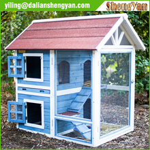 Outdoor Cheap 2 Story Wooden Rabbit Hutch