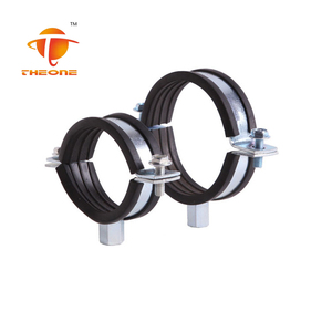 Heavy duty suspension pipe lined up clamps