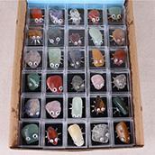 Yase di colore della miscela di pietra naturale lucido 12 pcs tumble pietra regalo di imballaggio della scatola di pietra semi preziosa all'ingrosso