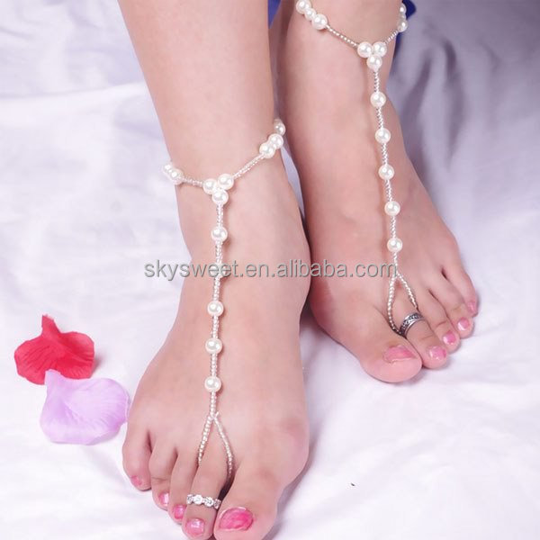 product female foot jewelry women colorful leg bracelet bracelets anklet detail ankle braid handmade woman for anklets ethnic pearl