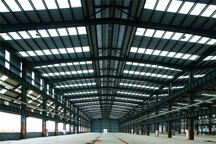 Outdoor Galvanized Prefab Steel Frame Workshop with Large Span Roof