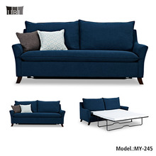 American style Fabric Folding Sofa Bed for hotels furniture,Metal mechanism sleeper sofa,fabric sofa cum bed