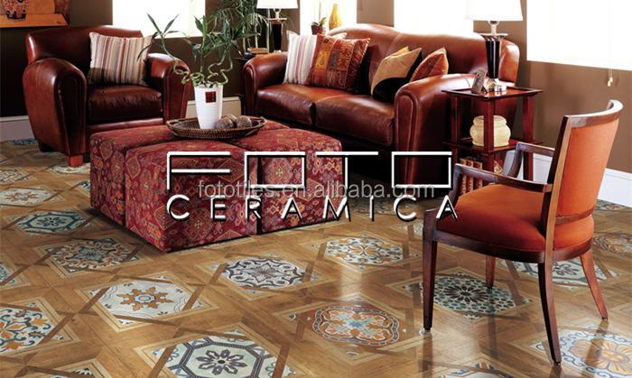 Decorativi indian piastrelle fatte a mano modello di pavimento di