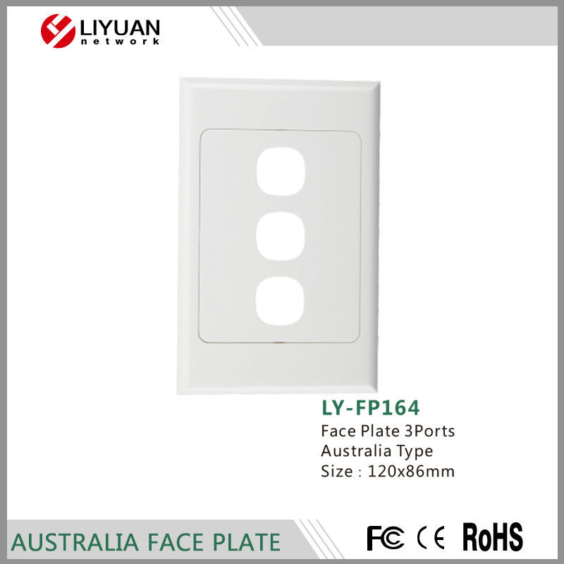 LY-FP164 Australia Style Electric Wall Switch Face Plate