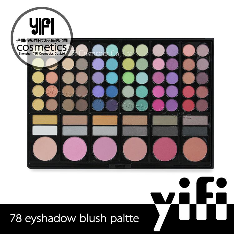 Hot selling private lable makeup 78 colour palette