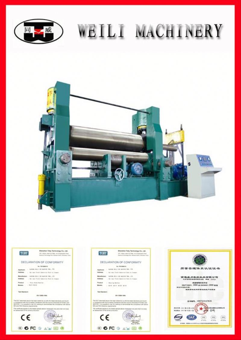 Top Quality CNC Machinery 3 roller manual bending roll machine