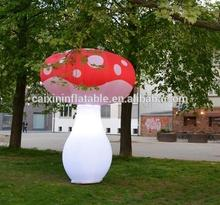 customized giant stand colorful inflatable mushroom, inflatable fungus for entertainment park decoration