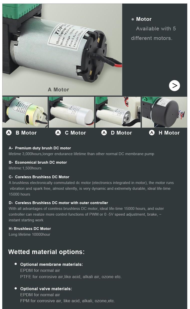 6v 12v 24v Air Pump/ Diaphragm Mini Air Pump