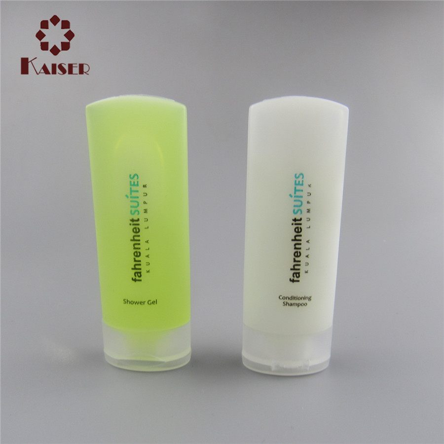 cosmetic airless 20ml pet plastic bottle for hotel shampoo