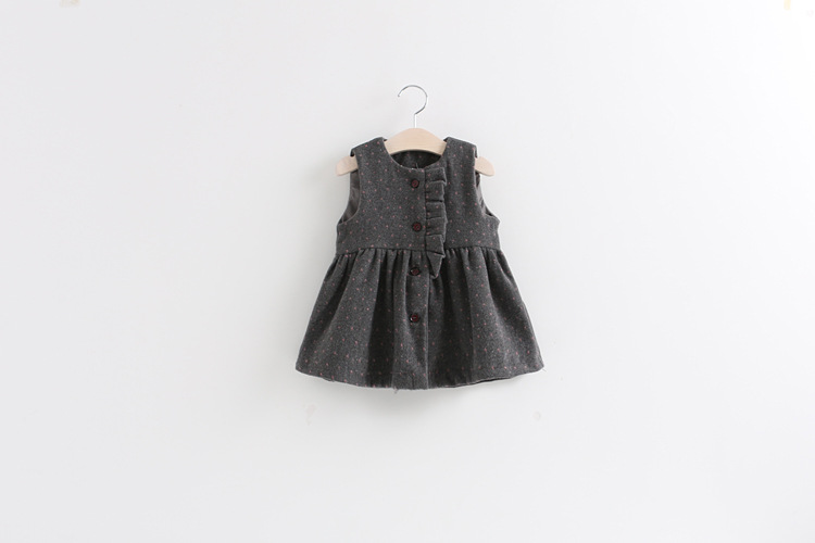 wholesale 4pcs/lot gril's clothes sleeveless dresses baby clothes sundress autumn winter kids clothes