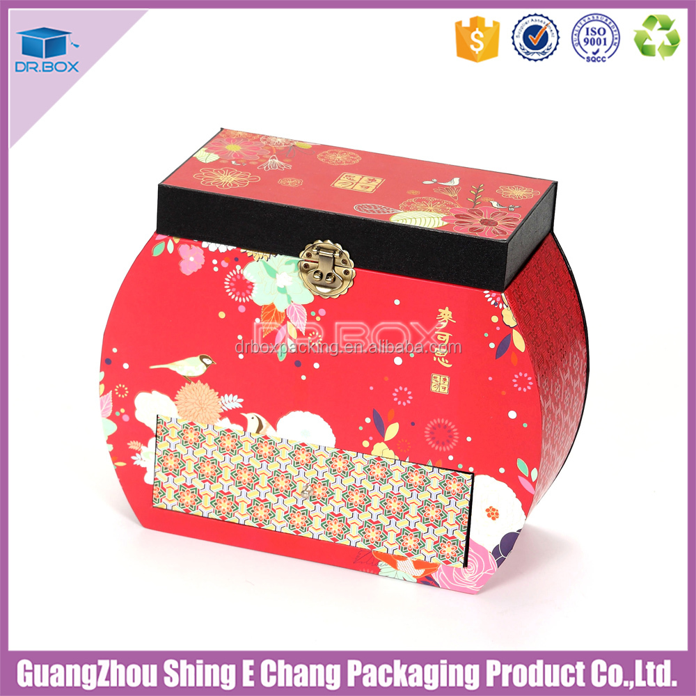 Brand new Oval fancy paper chocolate gift snacks classic shape metal tea paper packaging box