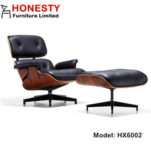 HX6002 Ultra Premium Version Removable Cushion Replica Classic Modern Leather Herman Miller Charles Lounge Chair Ottoman