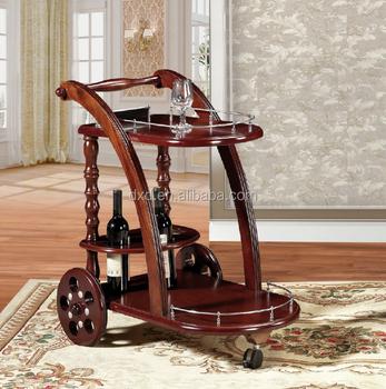 Custom Antique Wooden Tea Trolley Hand Wine Kitchen Cart For Bar Buy High Quality Wooden Tea Trolleykitchen Serving Trolley Cartwooden Tea Cart