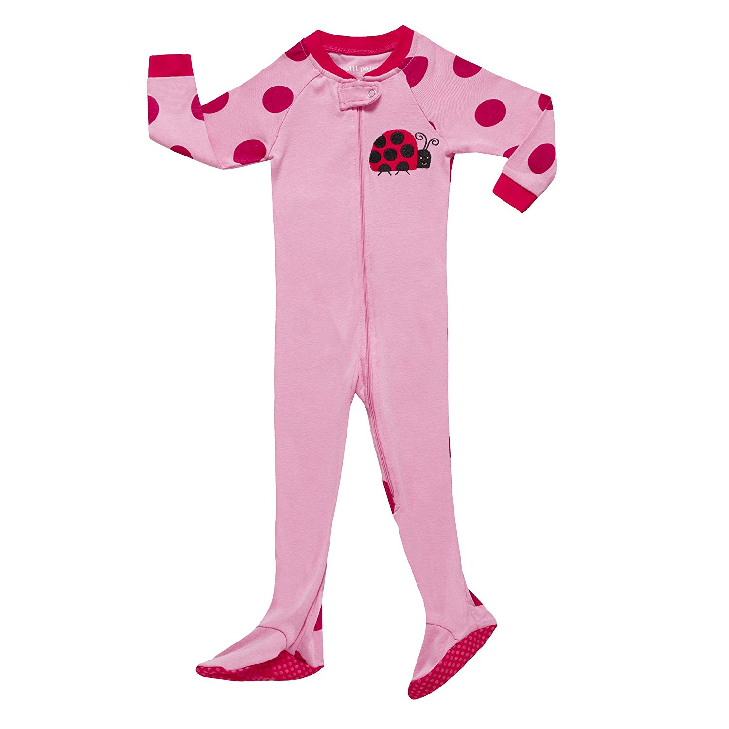 3a514a44ce Get Quotations · MMII pajamas Little Baby Girls Footed Pajama Sleeper 100% Cotton  Pjs Size 6M-5T