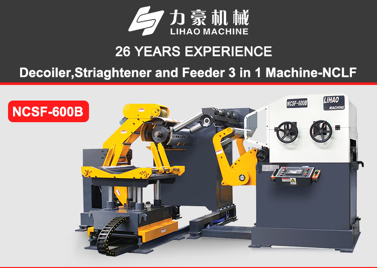Coil Automatic Decoiler Straightener Feeder Machine, for sheet metal coil feeding