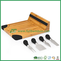 Crafted Natural Bamboo Cheese Board