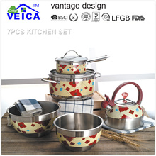high quality 7 pcs parini cookware set with best price