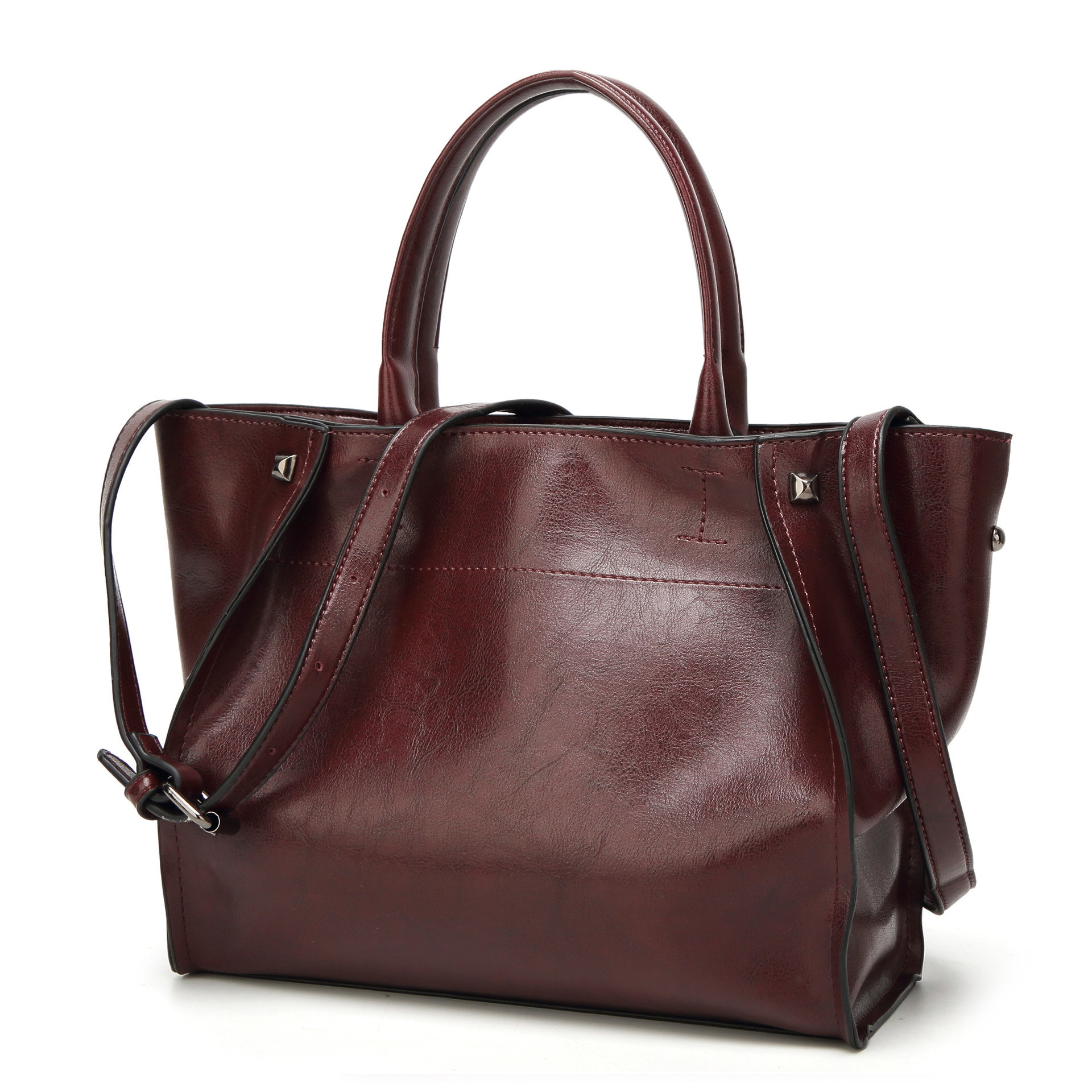 Women New Trend Por All Match Simple Style Sides Shoulder Large Capacity Uk Usa Whole Las S Leather Handbags Beautiful