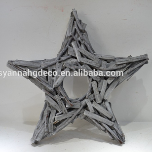 Christmas decoration wood thanksgiving star shape wreath
