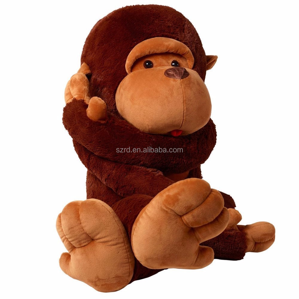 WuKong Giant Big Monkey Plush Toy/ Long Arm Brown Monkey Soft/Stuffed Animals Doll for Children Birthday Christmas Gift
