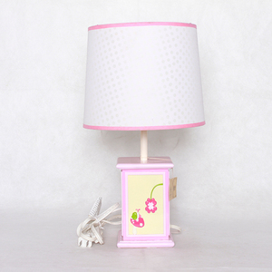 Modern flower views square column table lamp for home decoration