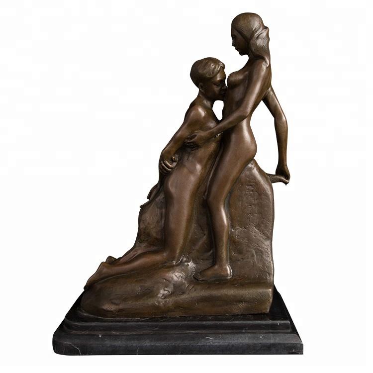 ArtsHom DS-588 Bronze Western Art Figures Sculpture Human Body Oomph Libido Nude Sexy Girl Statue Household Bronze Woman