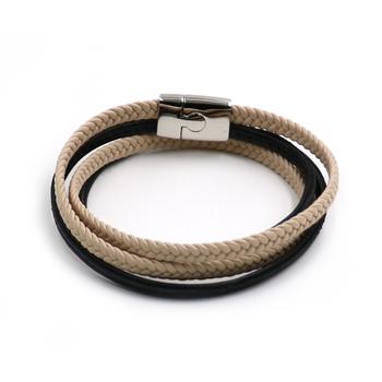 986cdbb47304 BESHINE las ventas en línea de nivel superior de Color Beige Multi Strand  pulsera de cuero