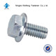 din 930 stainless steel A4-70 m11 hexagon head flange hex bolt
