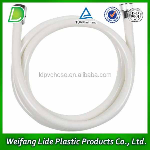 White PVC bidet shower hose