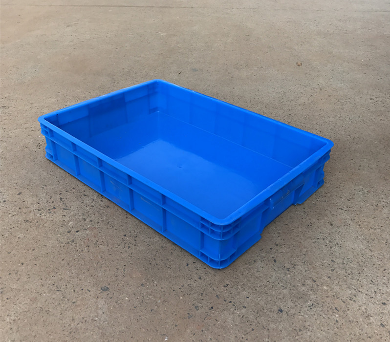 คุณภาพสูง 640x420x140mm Reusable พลาสติกซ้อนได้ค่าเฉลี่ยซ้อน Turnover กล่อง