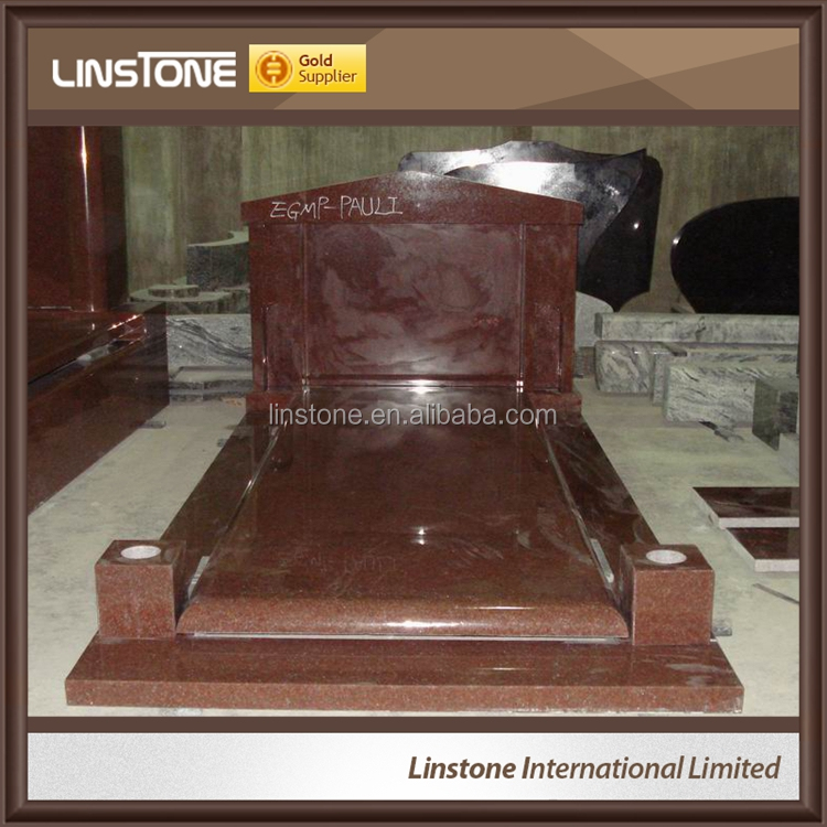 China Manufacture Polished India Red Granite Headtone Monument Price